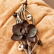 """Украшения ручной работы. Ярмарка Мастеров - ручная работа Браслет """"Орхидея-этно"""". Handmade."""