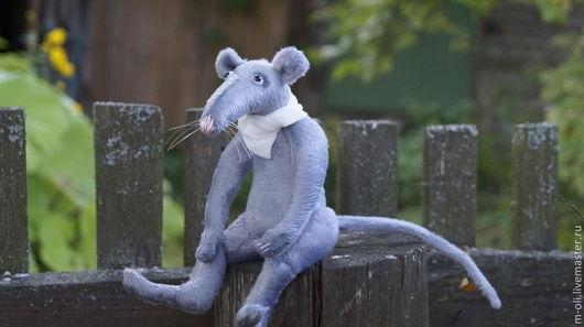 Мишки Тедди ручной работы. Ярмарка Мастеров - ручная работа. Купить Крыска Жужа. Handmade. Серый, подарок на любой случай