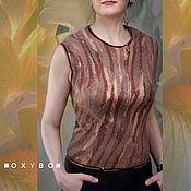 """Одежда ручной работы. Ярмарка Мастеров - ручная работа Блуза валяная,  коллекция """"Jardin la nuit"""". Handmade."""