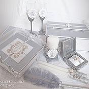 Свадебный салон ручной работы. Ярмарка Мастеров - ручная работа Свадебный набор:Магия серебра!. Handmade.