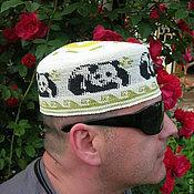 """Одежда ручной работы. Ярмарка Мастеров - ручная работа Летняя шапка  """"Панда 2"""". Handmade."""