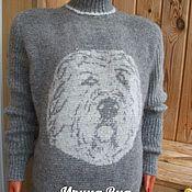 Одежда ручной работы. Ярмарка Мастеров - ручная работа Свитер  из собачьей шерсти с рисунком. Handmade.
