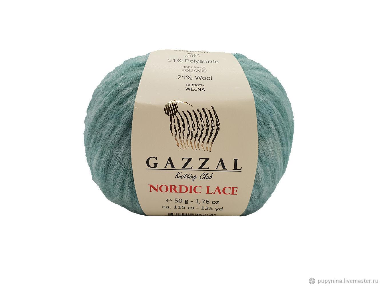 GAZZAL Nordic LACE yarn, Yarn, Krasnogorsk,  Фото №1