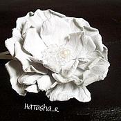 Украшения ручной работы. Ярмарка Мастеров - ручная работа Цветы из кожи. Заколка. Handmade.
