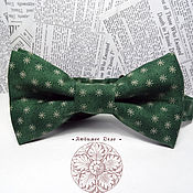 Аксессуары handmade. Livemaster - original item Bow Tie Needles / cotton classic in 2 two additions / green butterfly. Handmade.