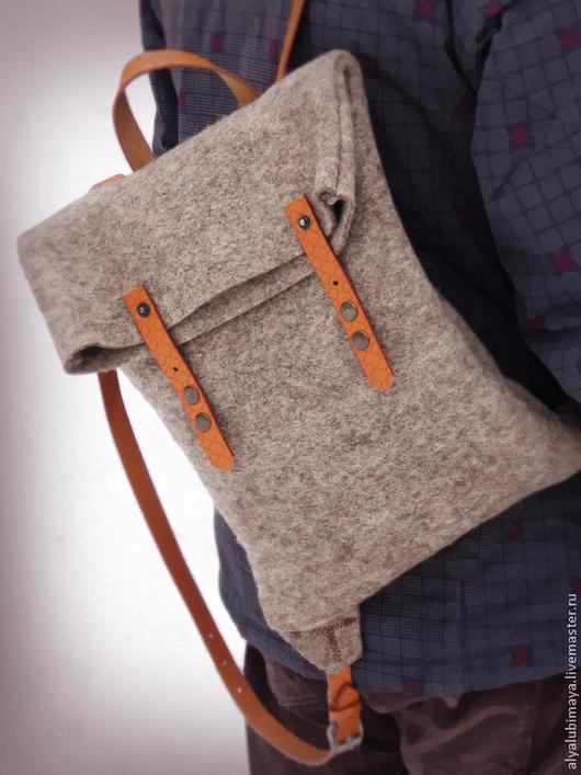 """Рюкзаки ручной работы. Ярмарка Мастеров - ручная работа. Купить Рюкзак  """"Симпатяга"""". Handmade. Серый, рюкзак детский, оригинальная сумка"""