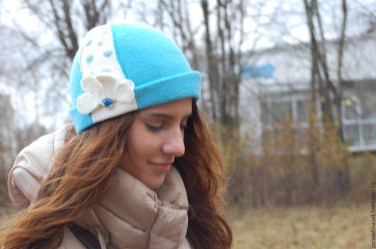"""Шляпы ручной работы. Ярмарка Мастеров - ручная работа. Купить Шляпка """"Романтика"""". Handmade. Голубой, шляпка женская, зимняя шляпка"""
