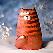 Для дома и интерьера ручной работы. Ярмарка Мастеров - ручная работа Статуэтка кот / кошка рыжий полосатый - подарок на 8 марта. Handmade.