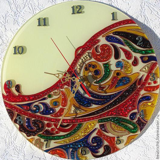 """Часы для дома ручной работы. Ярмарка Мастеров - ручная работа. Купить Часы """"Цветной мир"""". Handmade. Часы настенные"""