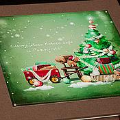 Канцелярские товары ручной работы. Ярмарка Мастеров - ручная работа Новогодний фотоальбом и мешочек для подарка. Handmade.