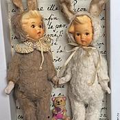 Куклы и игрушки ручной работы. Ярмарка Мастеров - ручная работа Зайчики. Handmade.