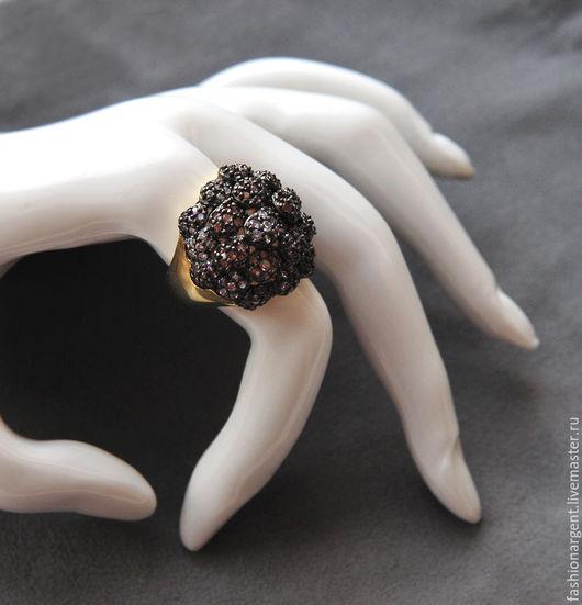 """Кольца ручной работы. Ярмарка Мастеров - ручная работа. Купить """"Я тучка-тучка-тучка"""" - серебряное кольцо с кубическими цирконами.. Handmade."""