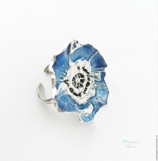 """Кольца ручной работы. Ярмарка Мастеров - ручная работа. Купить Кольцо """"Мак голубых кровей"""". Handmade. Кольцо, кольцо в подарок"""