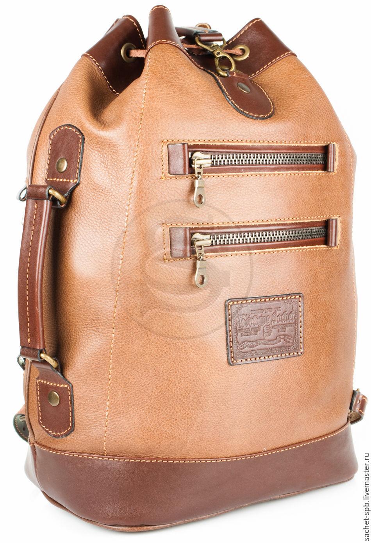 Leather backpack 'Sasha' brown, Backpacks, St. Petersburg,  Фото №1