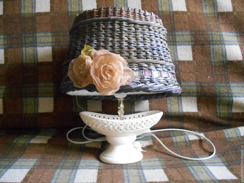 Плетеный абажур с розами, Абажуры и плафоны, Москва,  Фото №1
