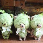 """Мягкие игрушки ручной работы. Ярмарка Мастеров - ручная работа Медвежата """"Яблочки"""". Handmade."""
