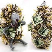 Куклы и игрушки ручной работы. Ярмарка Мастеров - ручная работа Денежный ежик с баксами (еж, игрушка, деньги, богатство,ежонок). Handmade.