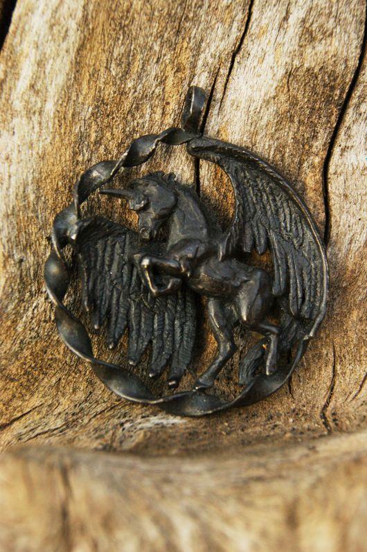 """Кулоны, подвески ручной работы. Ярмарка Мастеров - ручная работа. Купить Подвеска """"Black Unikorn"""". Handmade. Черный, единорог подвеска"""