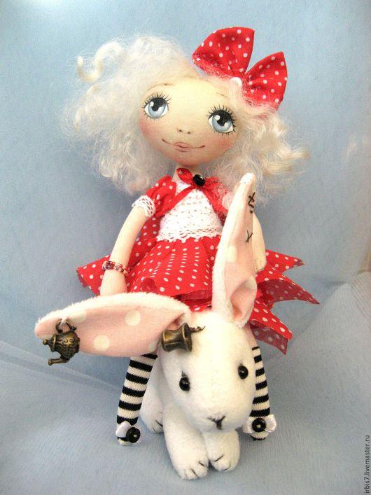 Коллекционные куклы ручной работы. Ярмарка Мастеров - ручная работа. Купить Alice. Handmade. Ярко-красный, горох, горошек