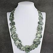 Украшения handmade. Livemaster - original item Necklace natural stone serafinite (clinochlor). Handmade.