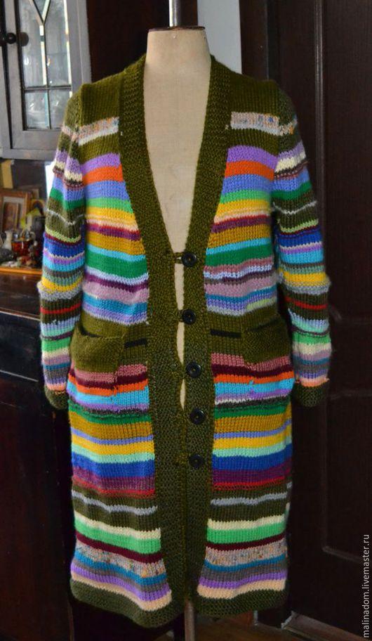 """Верхняя одежда ручной работы. Ярмарка Мастеров - ручная работа. Купить Вязаное пальто """"Мандала-Благопополучие"""". Handmade. Комбинированный"""