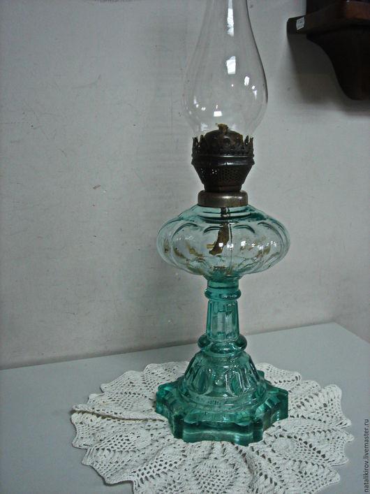 Винтажные предметы интерьера. Ярмарка Мастеров - ручная работа. Купить Старинная керосиновая лампа.. Handmade. Голубой, настольная лампа, подарок