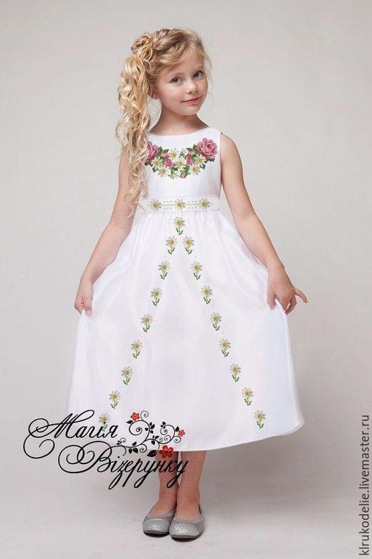 Одежда для девочек, ручной работы. Ярмарка Мастеров - ручная работа. Купить Детское платье - заготовка под вышивку. Handmade. ткань