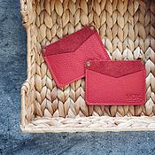 Сумки и аксессуары handmade. Livemaster - original item Cardholders leather Mint. Handmade.