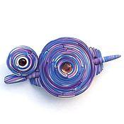 Украшения handmade. Livemaster - original item Barrette Blueberry mousse ring (brooch, shawl pin, purple). Handmade.