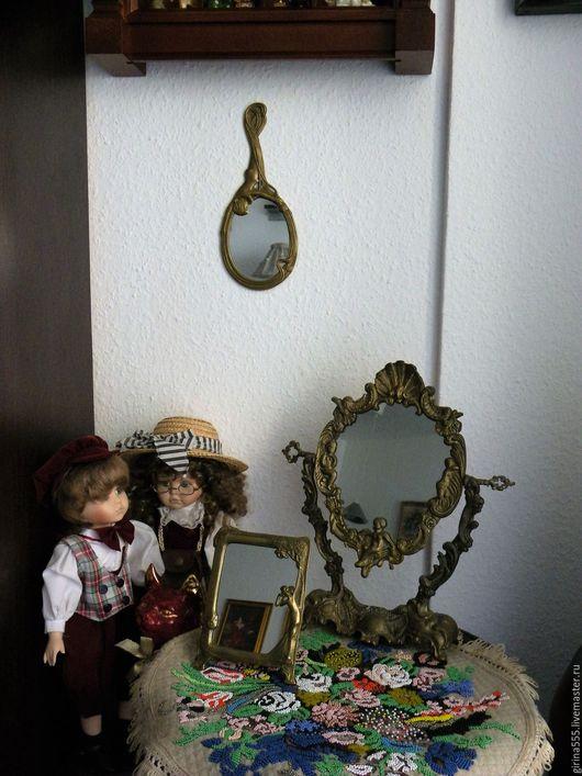 Винтажные предметы интерьера. Ярмарка Мастеров - ручная работа. Купить Коллекция немецких винтажных зеркал от Е. Браун. Handmade.