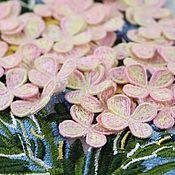 Материалы для творчества handmade. Livemaster - original item Application of Hydrangea Flowers, 2 pcs.. Handmade.