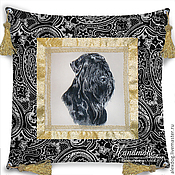 Для дома и интерьера handmade. Livemaster - original item Decorative pillow-batik