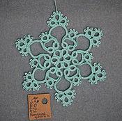 Подарки к праздникам ручной работы. Ярмарка Мастеров - ручная работа Снежинка для украшения дома. Handmade.