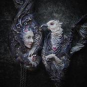"""Украшения ручной работы. Ярмарка Мастеров - ручная работа """"The Wings of Cold"""" - парные броши.. Handmade."""
