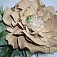 Броши ручной работы. Ярмарка Мастеров - ручная работа. Купить Цветы из кожи. Универсальная брошь-заколка Камелия для Анны. Handmade.
