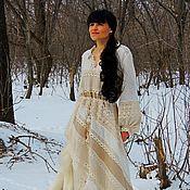 Платья ручной работы. Ярмарка Мастеров - ручная работа Платье зимнее в стиле БОХО (35). Handmade.