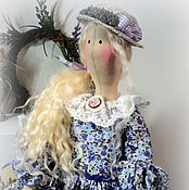 Куклы и игрушки ручной работы. Ярмарка Мастеров - ручная работа Кукла в стиле Тильда. Цветок лаванды 2.. Handmade.