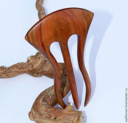 """Заколки ручной работы. Ярмарка Мастеров - ручная работа. Купить Заколка для волос из дерева """"Поцелуй зари"""" (дикая слива). Handmade."""