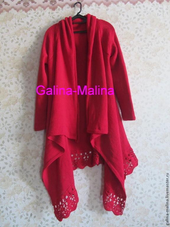 Cardigan 'Red - fine ', Suit Jackets, Penza,  Фото №1