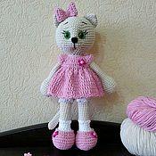 Мягкие игрушки ручной работы. Ярмарка Мастеров - ручная работа Кошка вязаная ручной работы. Handmade.