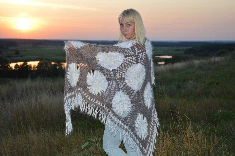 Shawl-scarf 'Attraction' down knitted, Shawls, Urjupinsk,  Фото №1