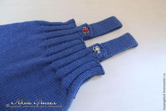 Одежда ручной работы. Ярмарка Мастеров - ручная работа. Купить Комбинезон для малышей. Handmade. Тёмно-синий, комбинезон для девочки, для новорожденных