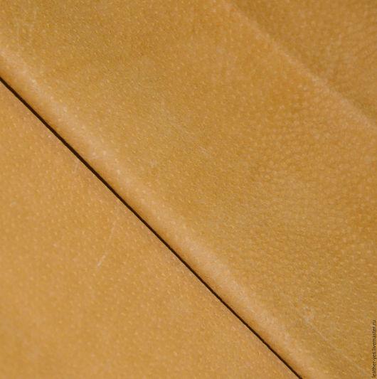 Шитье ручной работы. Ярмарка Мастеров - ручная работа. Купить кожа натуральная, светло-рыжая E75. Handmade. Оранжевый, спилок