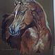 Животные ручной работы. Ярмарка Мастеров - ручная работа. Купить Портрет рыжего араба. Handmade. Разноцветный, портрет, акрил