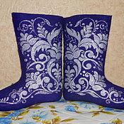 """Обувь ручной работы. Ярмарка Мастеров - ручная работа Валенки """"Морозные узоры"""". Handmade."""