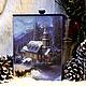 """Корзины, коробы ручной работы. Ярмарка Мастеров - ручная работа. Купить Новогодний короб для хранения """"Зимняя сказка"""". Handmade."""