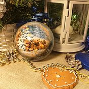 Подарки к праздникам handmade. Livemaster - original item Christmas balls Cubs. Handmade.