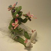 Куклы и игрушки ручной работы. Ярмарка Мастеров - ручная работа лягушка -прелестница из шерсти(фильц). Handmade.