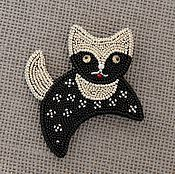 Украшения handmade. Livemaster - original item Brooch moonlight cat. Handmade.