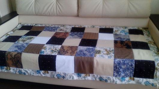 """Текстиль, ковры ручной работы. Ярмарка Мастеров - ручная работа. Купить Лоскутное одеяло """"Дачное"""". Handmade. Бежевый, для дачи, переделка"""